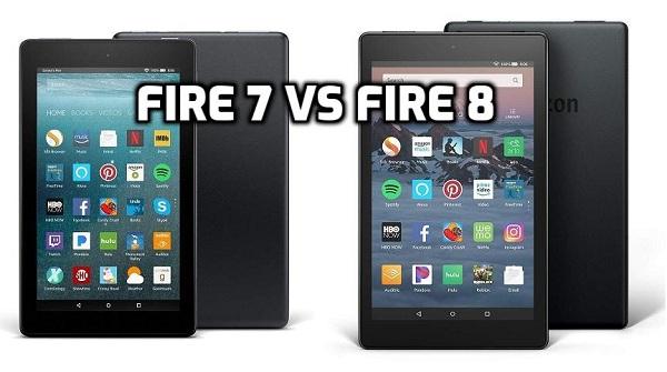 Kindle Fire 7 vs 8