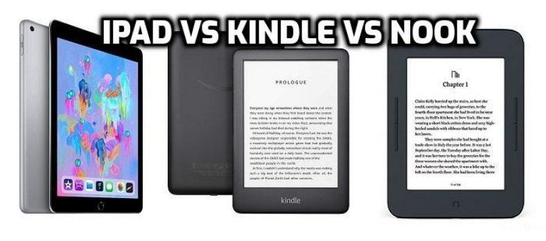 Kindle vs Nook vs iPad featured image