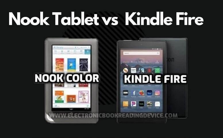 nook color vs kindle fire comparing tablets