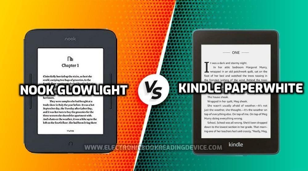 nook glowlight vs kindle paperwhite comparing e-readers