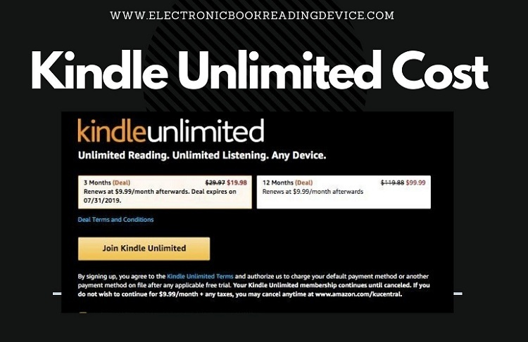 Kindle Unlimited Cost