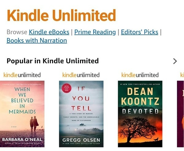 What does Kindle Unlimited include