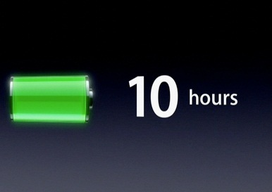 ipad battery life full charged